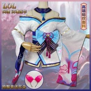 Cosplay Ahri Florescer Espiritual League of Legends LOL – Xueshuangfang